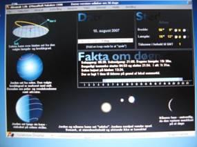 Åbningsside for programmet almanak skærmfoto