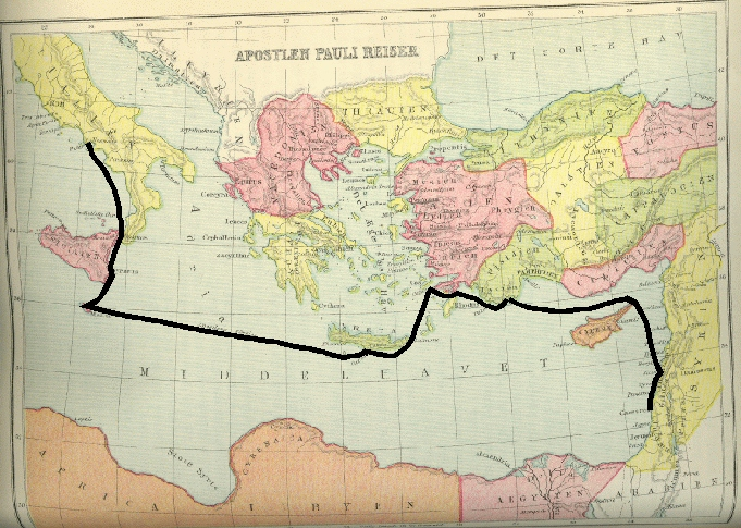 Kortet Viser Apostlen Paulus